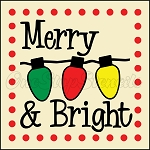 4524 * Merry & Bright Christmas Lights Stencil 11.25x11.25